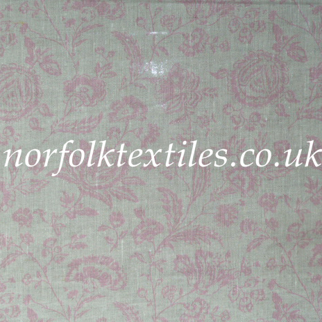Fabric With Pink Roses Roses Provence Toile Pink