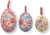 Greengate Nest of Tin Easter Eggs.